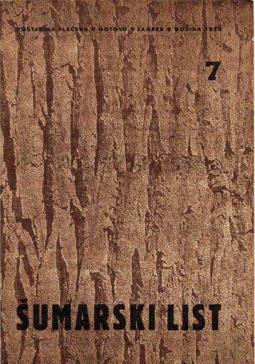 ÅUMARSKI LIST 7/1952