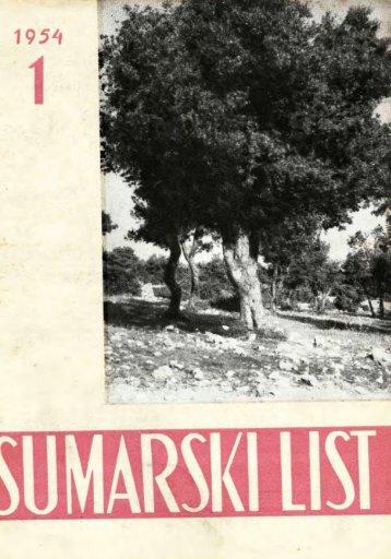 ÅUMARSKI LIST 1/1954