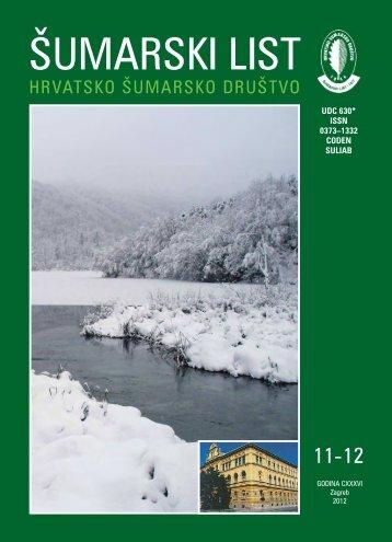 ÅUMARSKI LIST 11-12/2012 - HÅD