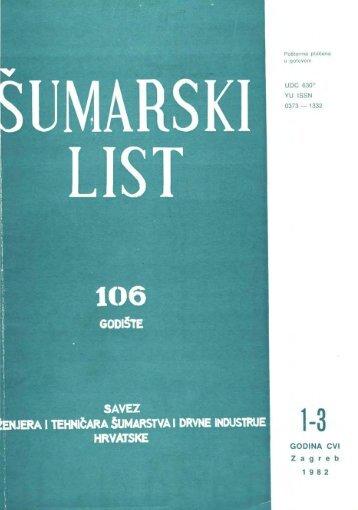 ÅUMARSKI LIST 1-3/1982