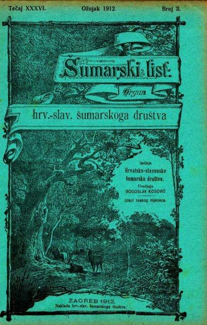 ÅUMARSKI LIST 3/1912