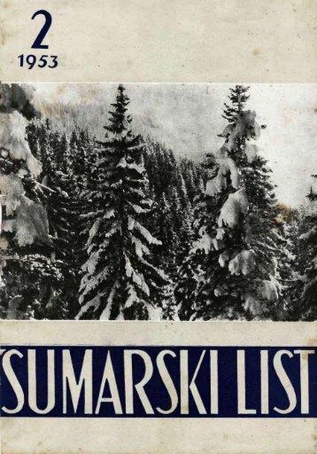 ÅUMARSKI LIST 2/1953