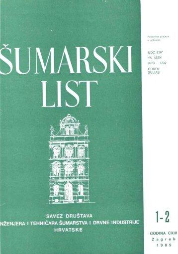 ÅUMARSKI LIST 1-2/1989