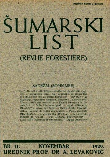 ÅUMARSKI LIST 11/1929