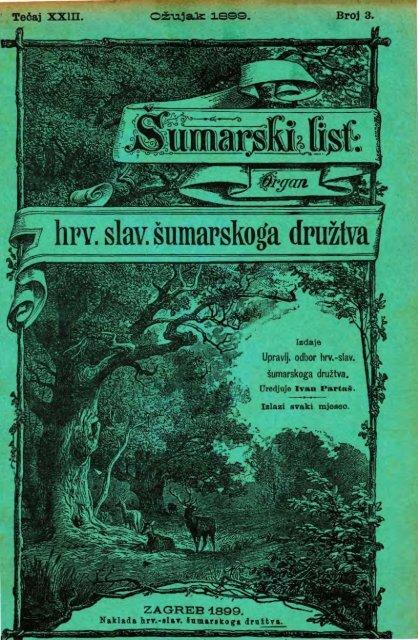 ÅUMARSKI LIST 3/1899