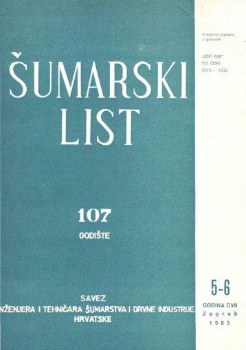 ÅUMARSKI LIST 5-6/1983