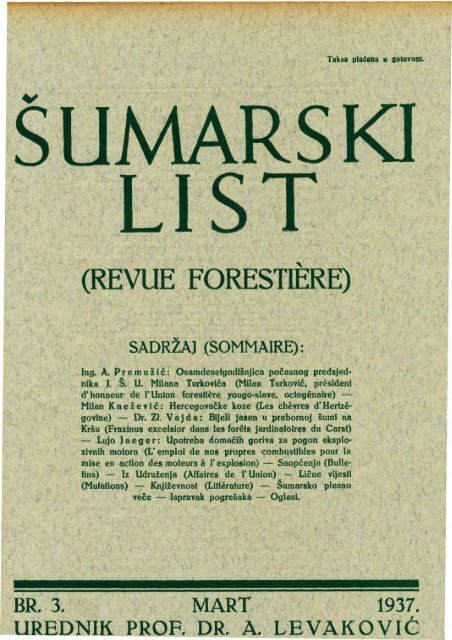 ÅUMARSKI LIST 3/1937