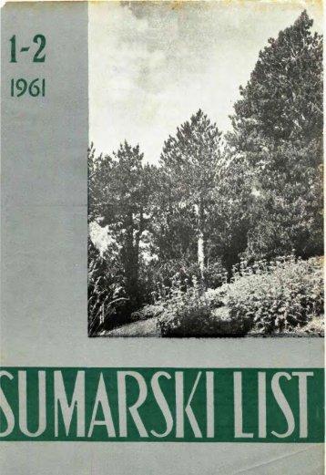 ÅUMARSKI LIST 1-2/1961