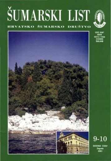 ÅUMARSKI LIST 9-10/2001 - HÅD