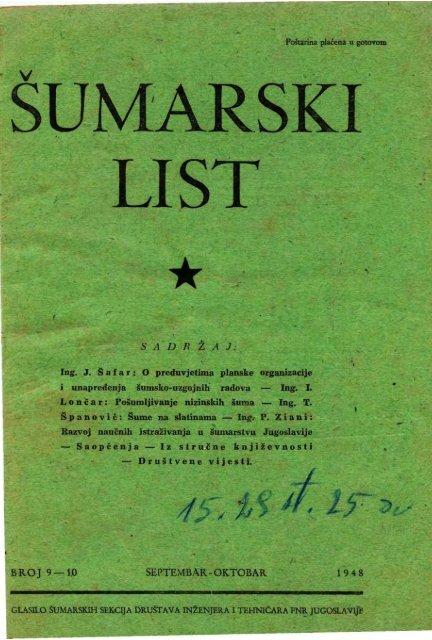 ÅUMARSKI LIST 9-10/1948