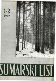 ÅUMARSKI LIST 1-2/1962