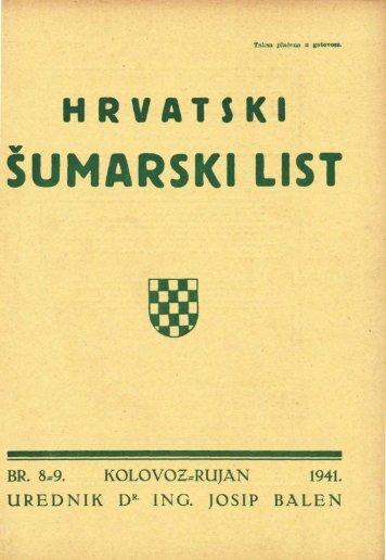 ÅUMARSKI LIST 8-9/1941