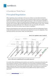 Principled Negotiation Method and Strategy - Sumbiosis