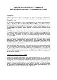 Thesen über Verhandlungen zwischen Banken und KMU - Sumbiosis