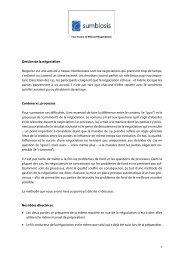 Gestion de la négociation Négocier est une activité à ... - Sumbiosis
