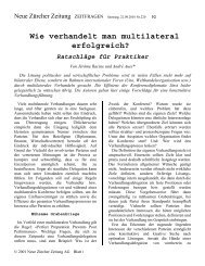 Wie verhandelt man multilateral erfolgreich - Sumbiosis