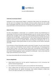 Beschreibung der Verhandlungsmanagement-Methode - Sumbiosis