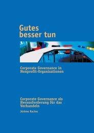Corporate Governance als Herausforderung für das ... - Sumbiosis