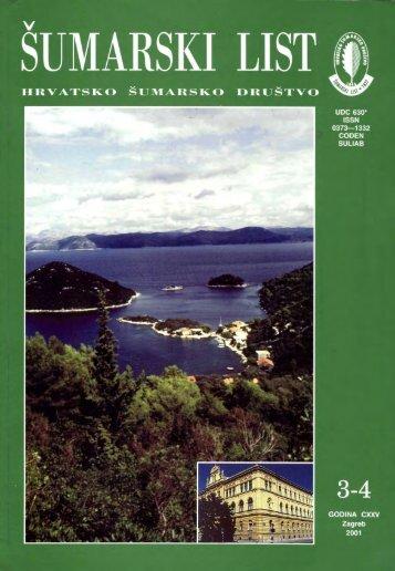 ÅUMARSKI LIST 3-4/2001