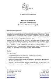 GESTION DE LA NÉGOCIATION - Sumbiosis