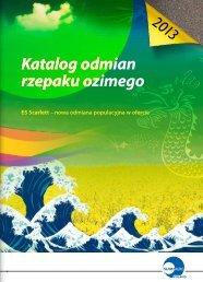 Katalog odmian rzepaku ozimego 2013 - Sumi Agro
