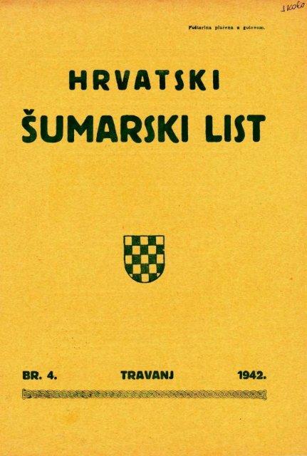 ÅUMARSKI LIST 4/1942