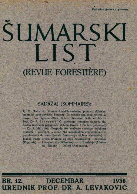 ÅUMARSKI LIST 12/1930