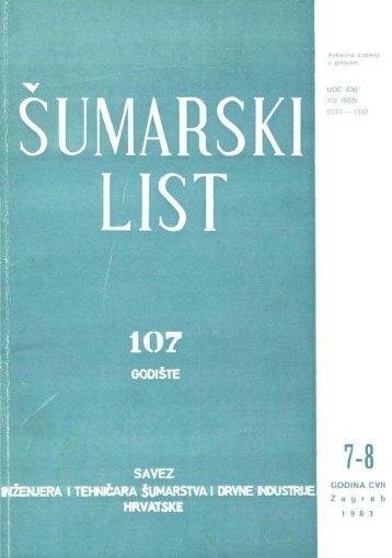 ÅUMARSKI LIST 7-8/1983