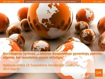 """""""Lietuvos Respublikos gyventojų patirtis, elgesys bei nuostatos ..."""