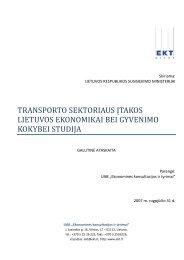 transporto sektoriaus - Susisiekimo ministerija