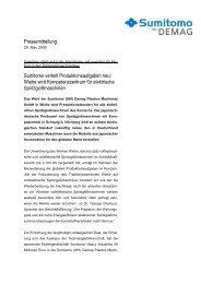 Pressemitteilung Sumitomo verteilt ... - Sumitomo (SHI)