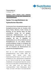Pressemitteilung Systec-Trio zeigt Multitalent der hydraulischen ...