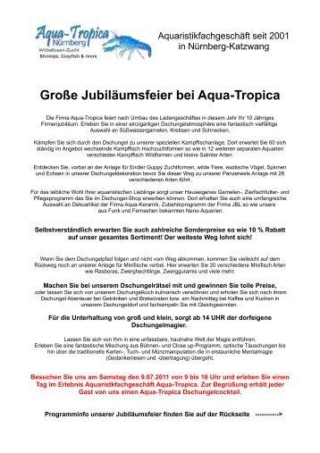 Große Jubiläumsfeier bei Aqua-Tropica - Crusta