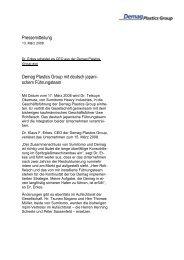 Pressemitteilung Demag Plastics Group mit ... - Sumitomo (SHI)