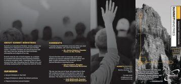 ministry brochure - Summit Ministries