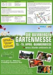 Auf Los geht's los - Willkommen zur Bamberger Gartenmesse 2012