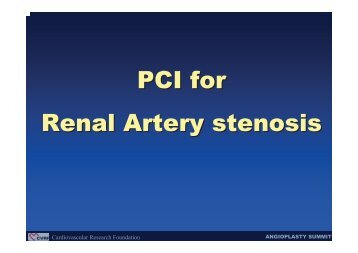 Renal Artery Stenting - summitMD.com