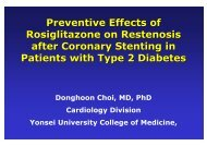 Preventive Effects of Rosiglitazone on Restenosis ... - summitMD.com