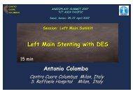 Antonio Colombo Left Main Stenting with DES - summitMD.com