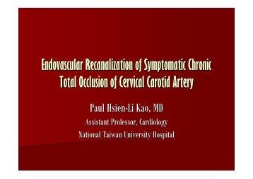 Endovascular Recanalization of Symptomatic ... - summitMD.com