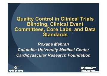 Quality Control in Clinical Trials Blinding, Clinical ... - summitMD.com