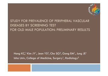 study for prevalence of peripheral vascular ... - summitMD.com