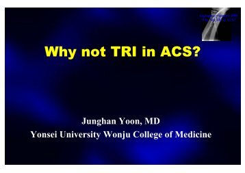 Why not TRI in ACS? - summitMD.com