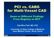PCI vs. CABG for Multi-Vessel CAD - summitMD.com