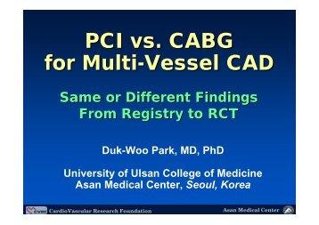 PCI vs. CABG for Multi-Vessel CAD - summitMD.com