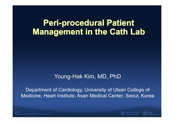 Peri-procedural Patient Management in the Cath ... - summitMD.com