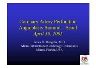 Coronary Artery Perforation Angioplasty Summit ... - summitMD.com