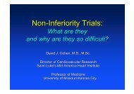 Non-Inferiority Trials: - summitMD.com