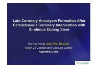 Late Coronary Aneurysm Formation After ... - summitMD.com