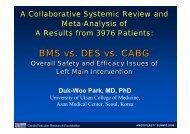 BMS vs. DES - summitMD.com